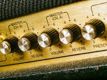 Vintage amplifier volume knob Stock Images