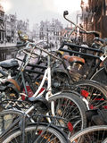 Vintage Amsterdam Stock Photography