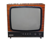 Vintage analog black and white TV Royalty Free Stock Images