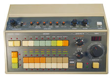 Vintage analog drum machine Royalty Free Stock Photos
