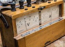 Vintage analog electric meter Royalty Free Stock Image