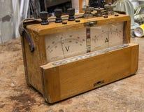 Vintage analog electric meter Royalty Free Stock Photos