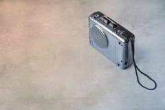 Vintage analog micro cassette tape recorder Royalty Free Stock Photos