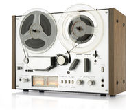 Vintage analog recorder reel to reel Royalty Free Stock Image