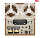 Vintage Analog Reel Tape Recorder. Royalty Free Stock Photos