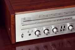 Vintage Analog Retro Stereo Radio Receiver Shiny Front Panel Royalty Free Stock Photography