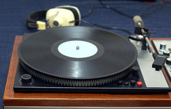 Vintage analogue classic style record player Stock Photos