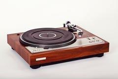 Vintage analogue de plaque tournante de joueur stéréo de disque vinyle rétro Images libres de droits