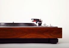Vintage analogue de plaque tournante de joueur stéréo de disque vinyle rétro Photo stock