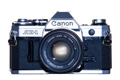 A vintage analogue film camera, Canon AE-1 Royalty Free Stock Photography
