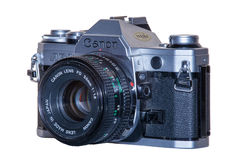 A vintage analogue film camera, Canon AE-1 Royalty Free Stock Photo