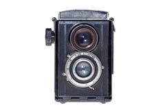 Vintage analogue film camera isolated background Stock Photography