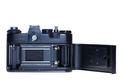 Vintage analogue film camera isolated background Stock Photos