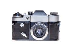 Vintage analogue film camera isolated background Stock Images