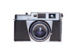 Vintage analogue film camera isolated background Stock Photo
