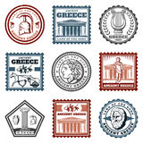 Vintage Ancient Greek Marks Set Royalty Free Stock Photo