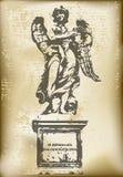 Vintage Angel. Background illustration of Angel statue in a vintage style vector illustration