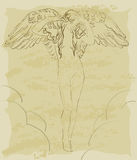 Vintage angel Royalty Free Stock Photography