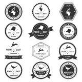 Vintage Animal Wild collection badge set Stock Photos