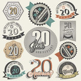 Vintage 20 anniversary collection. Stock Images