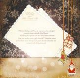 Vintage, ano novo sujo, fundo do Natal ilustração royalty free