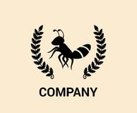 Vintage ant logo concept 5. Vintage black ant bug insect pest animal nature wildlife logo design idea concept illustration Royalty Free Stock Photography