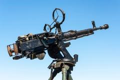 Vintage antiaircraft machinegun Royalty Free Stock Image