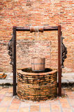 Vintage antigo velho da madeira da cubeta de água Fotografia de Stock Royalty Free