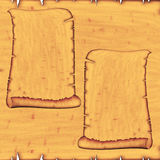 Vintage antique ancient scroll. S on a wooden board royalty free illustration