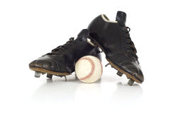 Vintage antique baseball shoes Stock Image