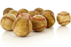 Vintage, antique baseballs Royalty Free Stock Photo