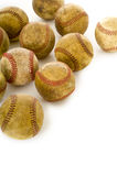 Vintage, antique baseballs stock image