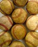 Vintage, antique baseballs stock image