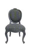 Vintage and antique black chair isolated Stock Images