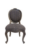 Vintage and antique black chair isolated Royalty Free Stock Photos