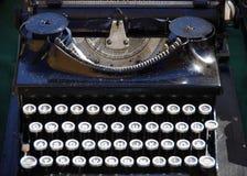 Vintage antique black typewriter Royalty Free Stock Images