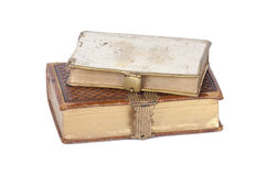 Vintage antique books. Isolated on a white background Stock Photo