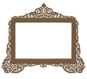 Vintage antique brass frame. A cutout vintage brass frame in an antique looking filigree design on a white background vector illustration