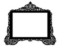 Vintage antique brass frame Stock Images
