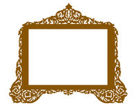 Vintage antique brass frame Stock Photography