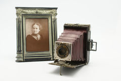 Vintage or Antique Camera and Photograph Stock Photos