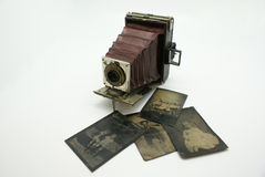 Vintage or Antique Camera and Photograph Plates stock photos