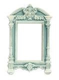 Vintage antique classical frame. isolated on white Stock Photos