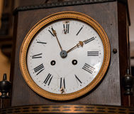 Vintage antique clock face closeup Royalty Free Stock Photography