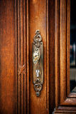 Vintage antique door handle Royalty Free Stock Image