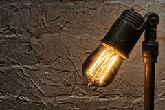 Vintage Antique Edison Light Bulb Fixture Royalty Free Stock Photography