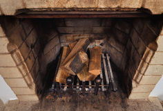 Vintage antique fireplace Royalty Free Stock Photography
