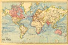 Free Vintage Antique Historical World Map Royalty Free Stock Image - 214907976