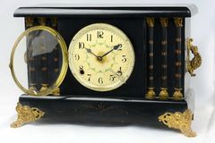 Vintage Antique Mantle Clock Stock Images