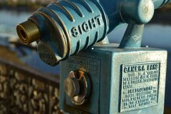 Vintage coin operated telescope Royalty Free Stock Images
